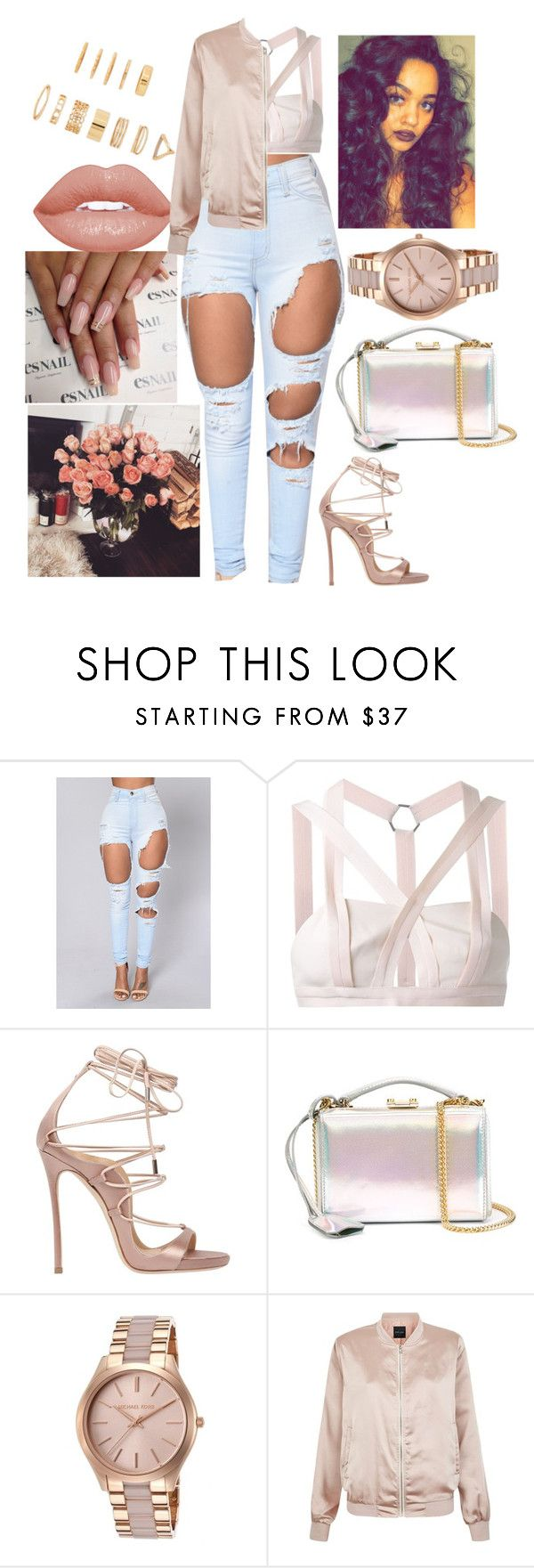 """""""Don't Mind"""" by myfashionandeverydaystyles ❤ liked on Polyvore featuring Dion Lee, Dsquared2, Mark Cross, Michael Kors, Topanga, New Look and Forever 21"""