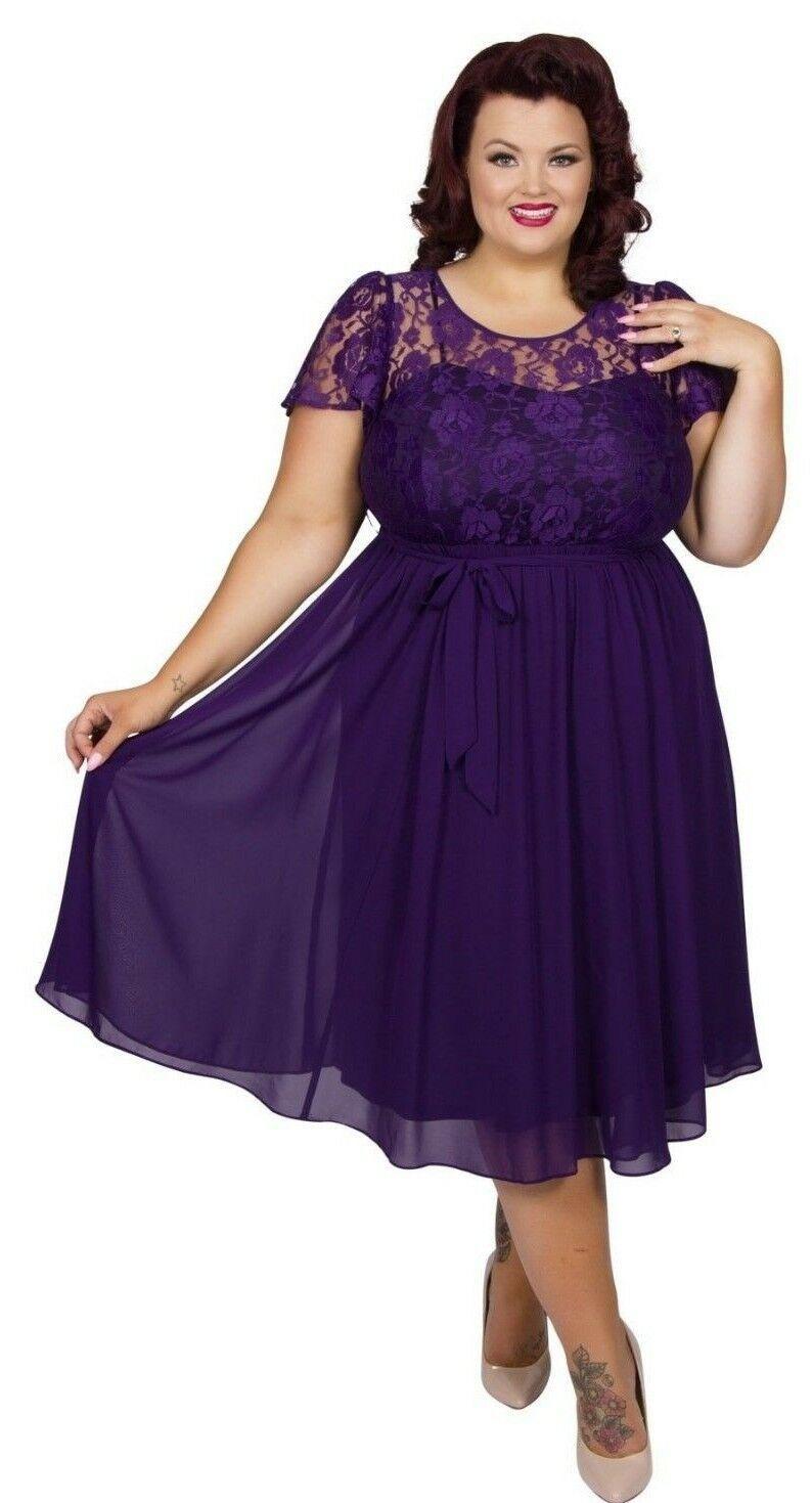 Kleid Gr.10+10+10+10 Abendkleid Cocktailkleid Spitzenkleid Damen