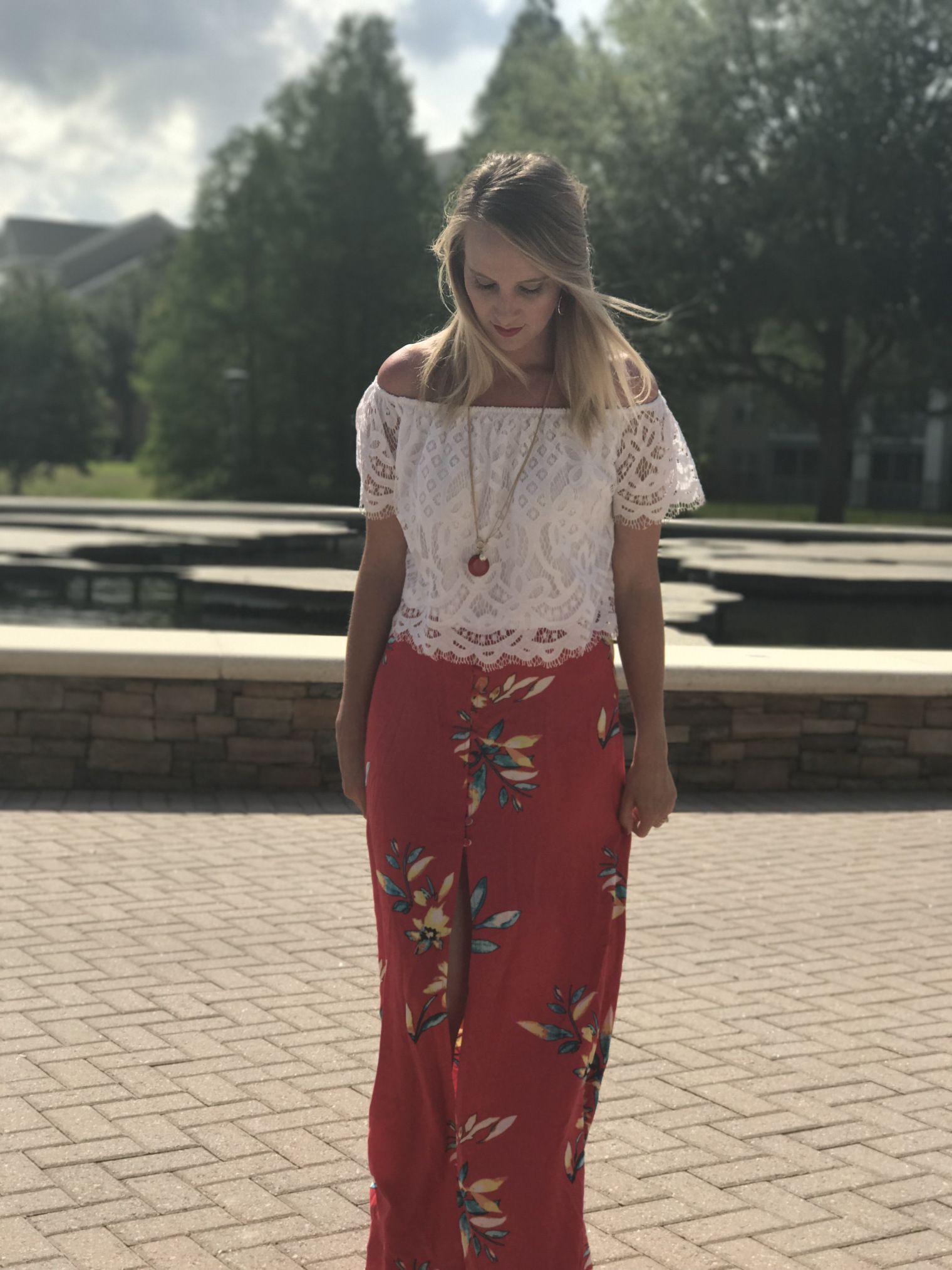 756e6f073c Maxi skirt, floral skirt, floral maxi, red skirt, red maxi skirt ...