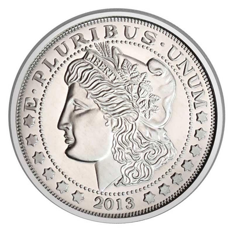 Morgan Dollar Replica 1 Oz 999 Fine Pure Silver Medal Custom Mints Morgan Dollars Silver Bullion