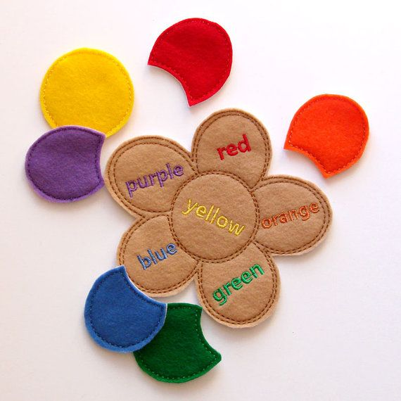 Kids Color Game - Flower - Learning Colors - Felt Puzzles - Toddler -Preschool - Educational Toy