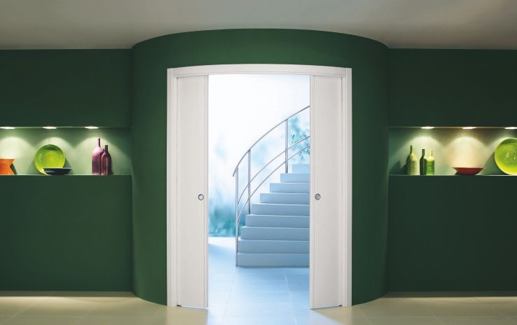 Double Curved   Eclisse Double Curved Pocket Door. For Further Information  Visit Http:/