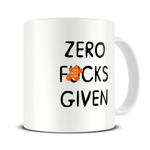 office mugs funny. zero fcks given coffee mug office sarcastic gift funny for mugs