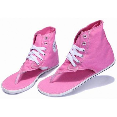 9ca42a5bf70369 Converse Roman Thong Sandals Pink Chuck Taylor All Star Womens Textile Shoes  Hi Tops