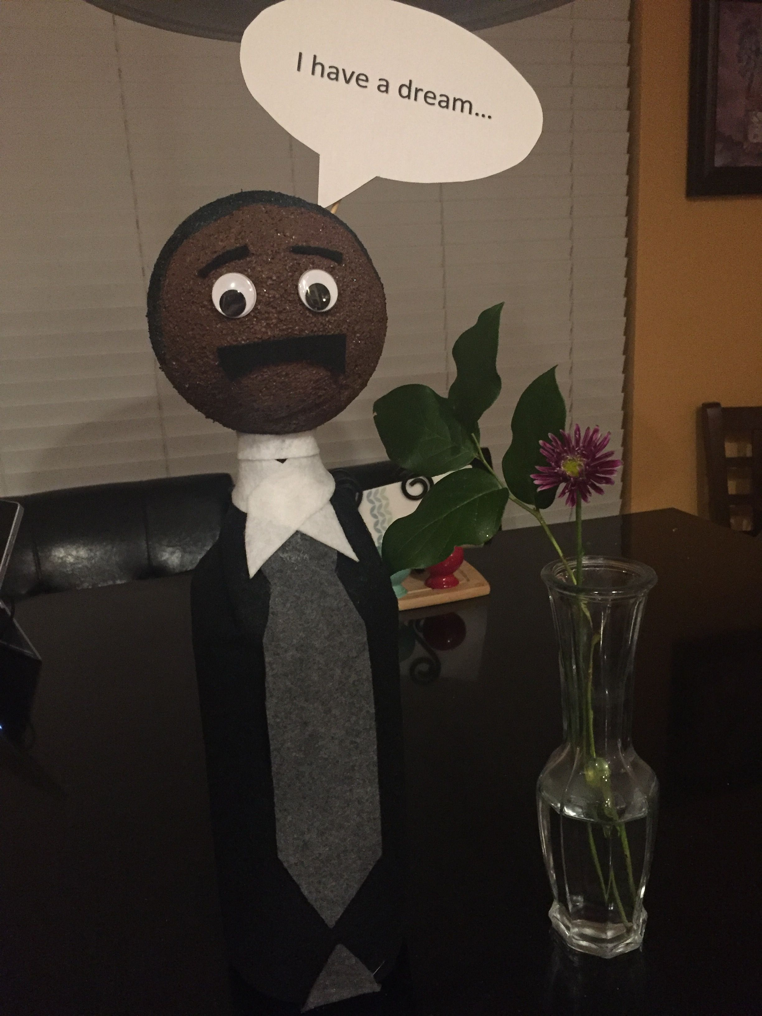 Martin Luther King Jr Biography Bottle School Project