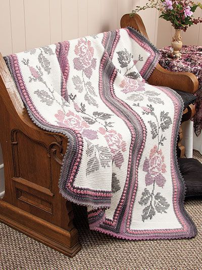 Annie S Attic Colorful Tunisian Afghans To Crochet
