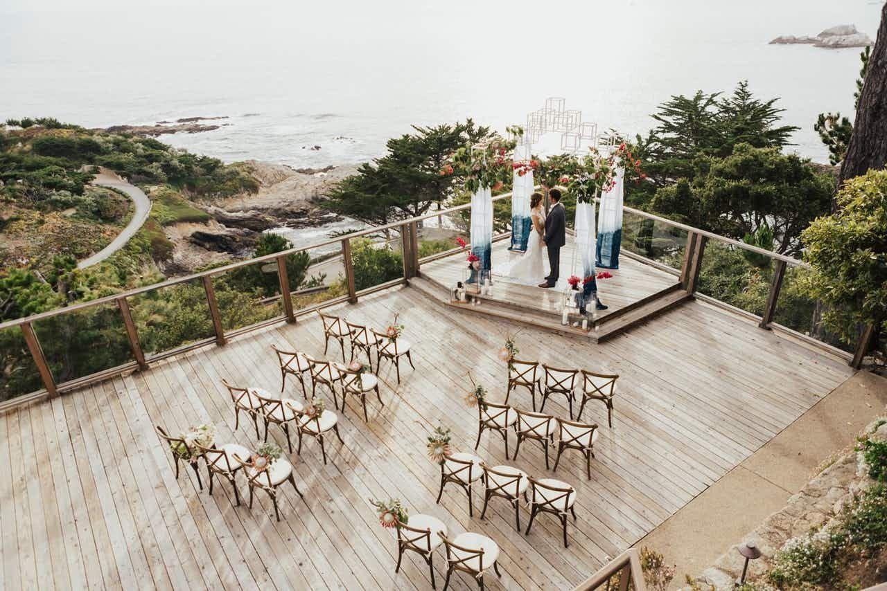 Luxe Carmel Oceanfront Wedding Highland Wedding California Wedding Venues Oceanfront Wedding