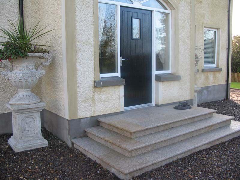 Front Entrance Steps Steps More Straightforward Many | Home Entrance Steps Design | Exterior | Sophisticated | Angled | Bungalow Entrance | Concrete