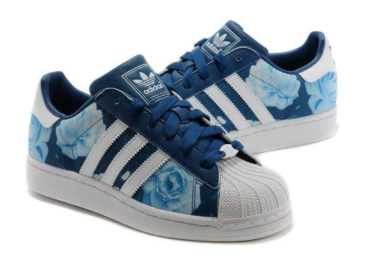 adidas superstar rose bleu