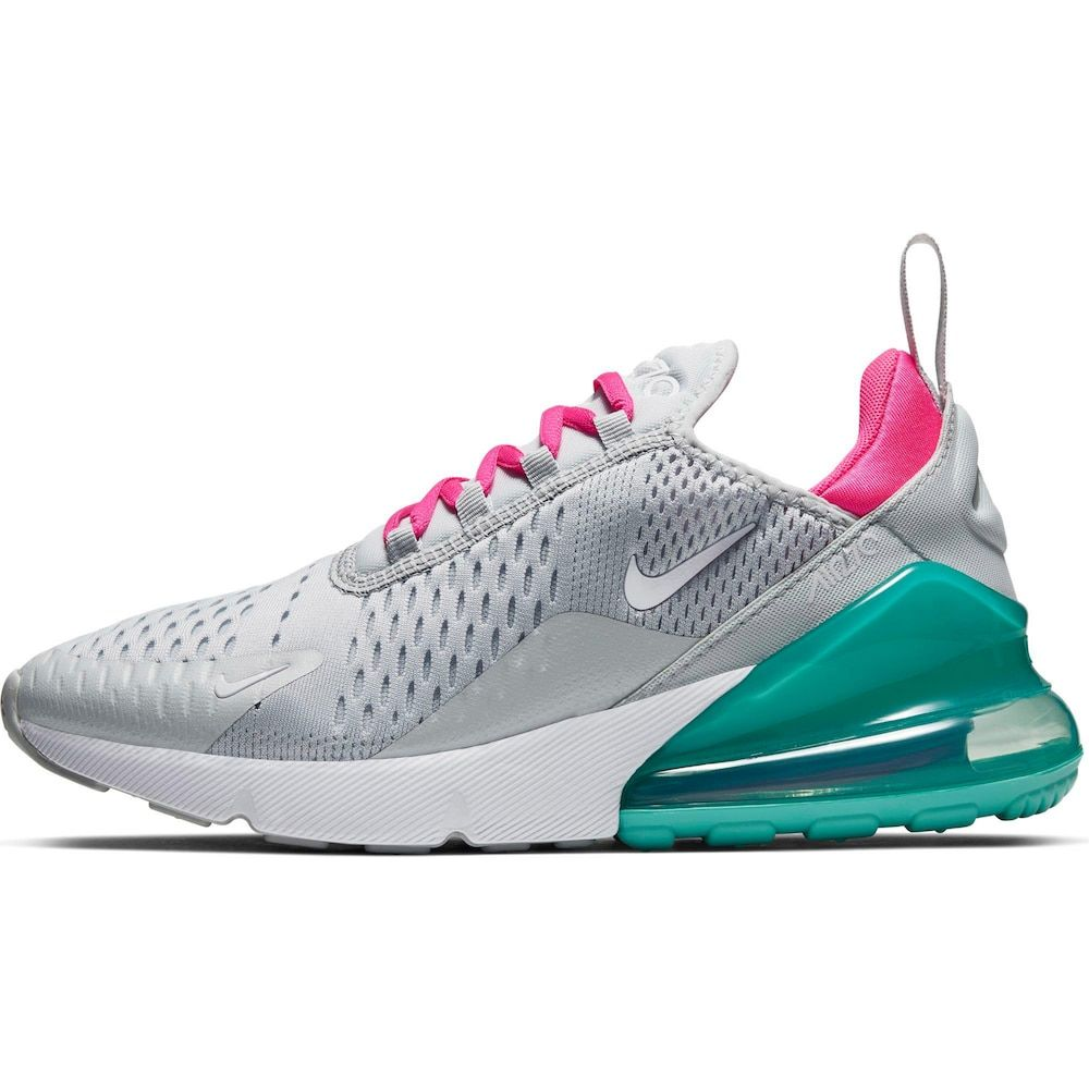Nike Sportswear Sneaker Air Max 270 Damen Turkis Pink Weiss Grosse 38 5 In 2020 Silber Nike Damen Sneaker Und Nike Air Max