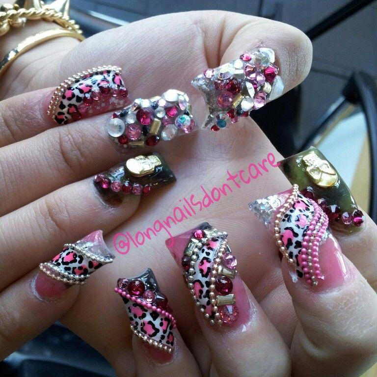 ESTILO SINALOA CAMOUFLAGE ♥ IG: @LONGNAILSDONTCARE | I love nails ...