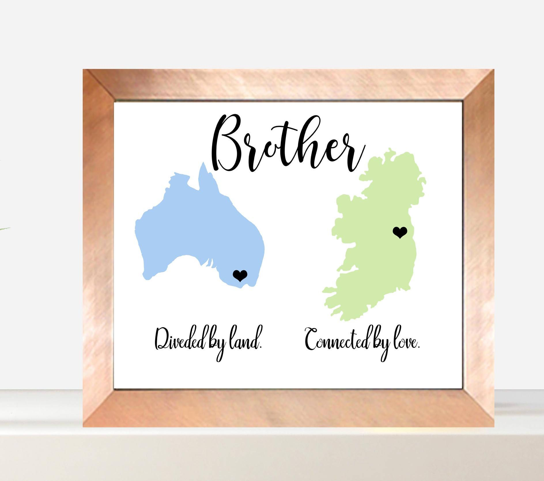 Across The Miles Land Brother, Brother Gift, Christmas Gift Ideas,