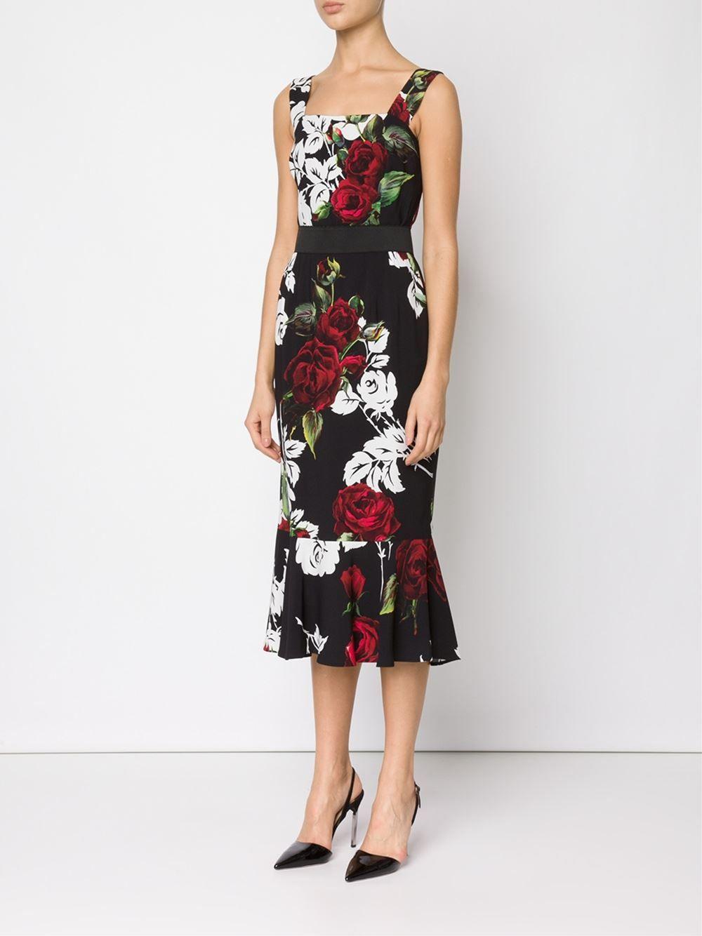 93abf7866 Dolce   Gabbana Vestido Midi Floral - Helmè - Farfetch.com Sapatos  Importados