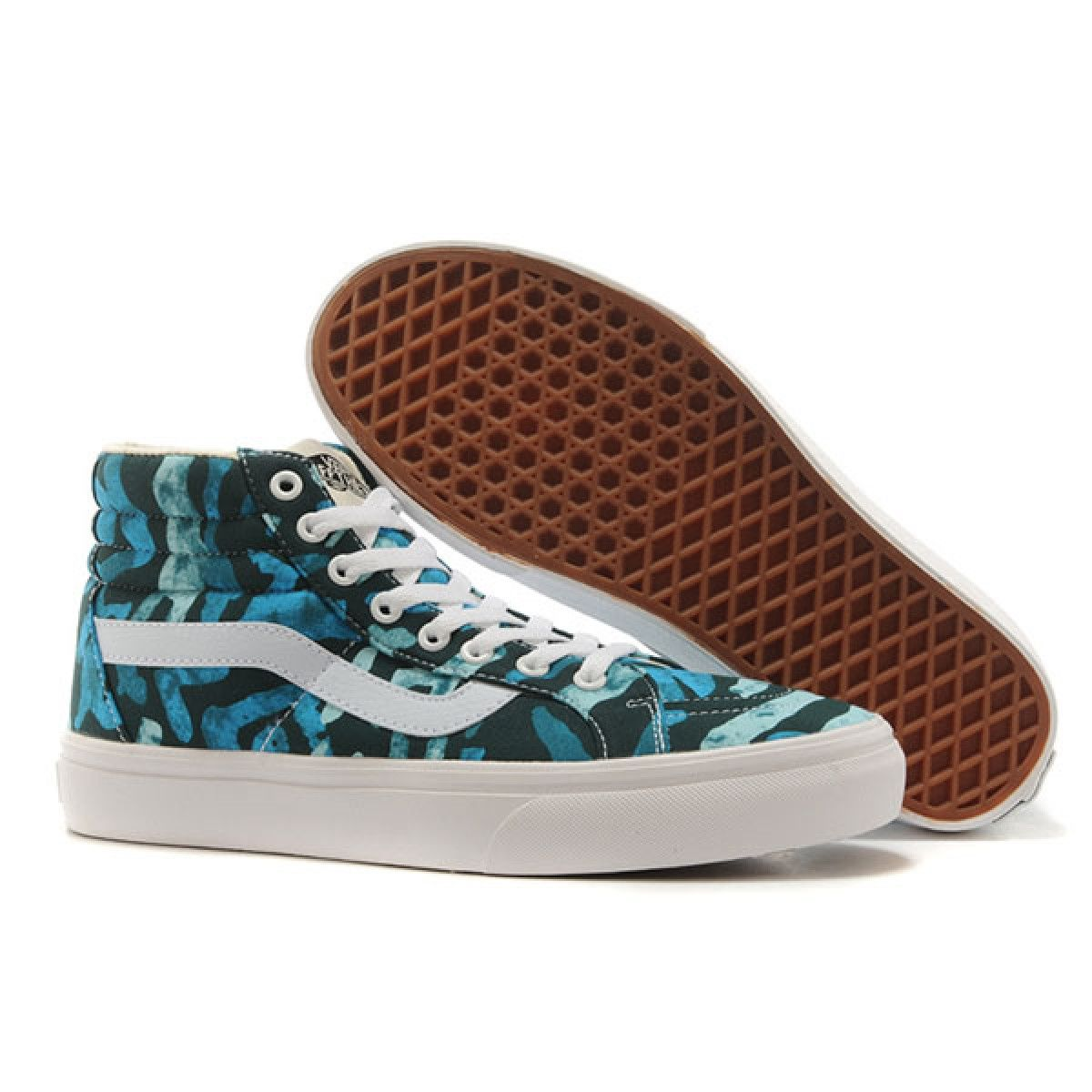 9b5daea026 Vans Shoes Sky Blue Picasso Liberty Art Fabrics Sk8-Hi Shoes Unisex Classic  Canvas