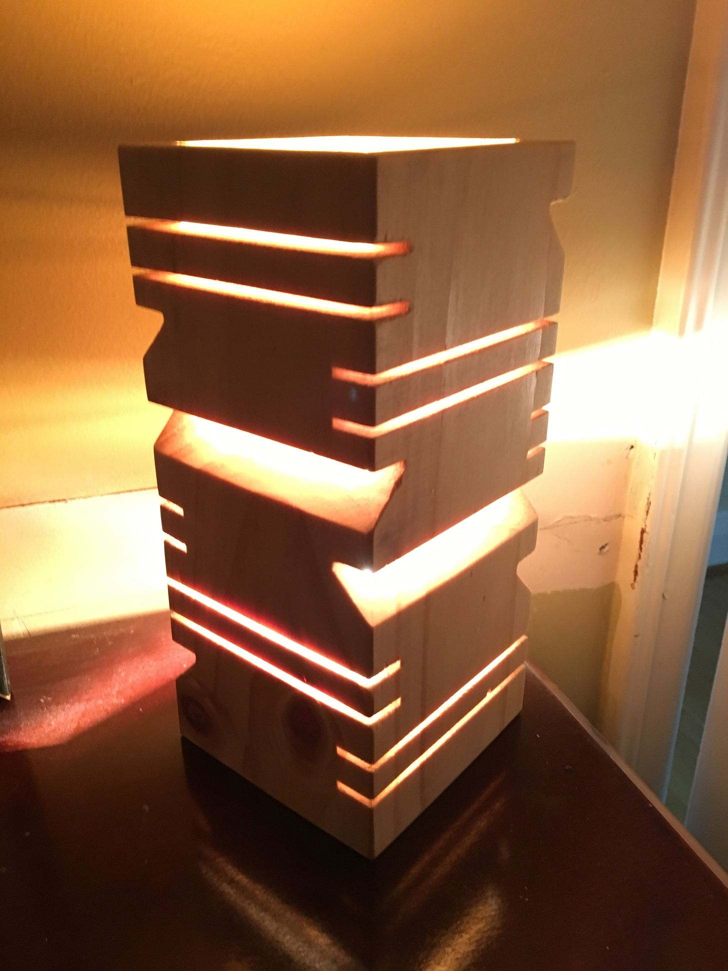 Lamp. Made just with the table saw.