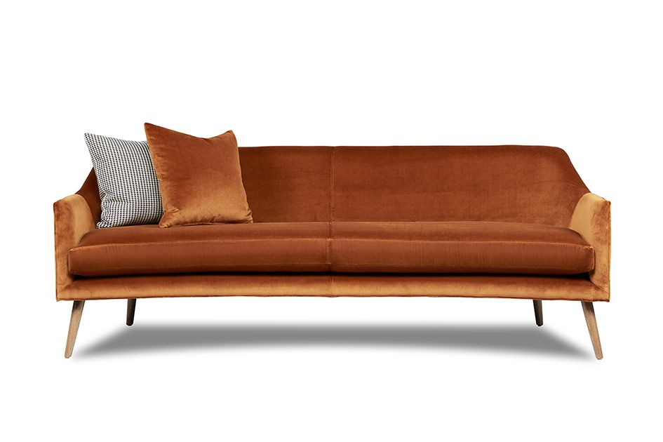 Stanley Sofa Copper Velvet Australian Made Australian Designed Www Arthurg Com Au Range Melbourne Sydne Contemporary Sofa Sofa Corner Sofa And Chair