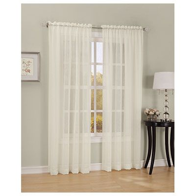 Crushed Voile Panel At Big Lots For The Kitchen Sliding Glass Door Voile Panels Sheer Curtain Panels Home Decor
