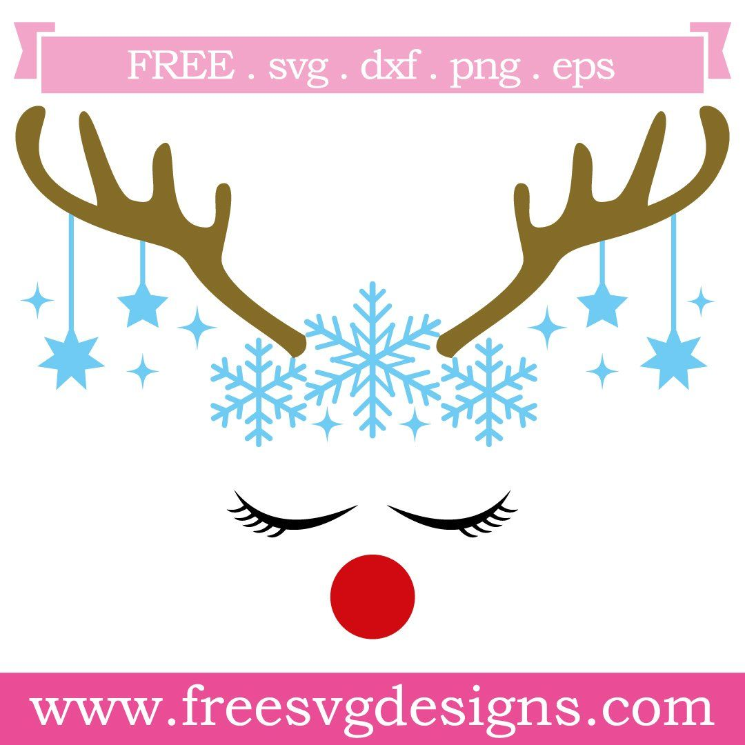 Free Svg Files Svg Png Dxf Eps Reindeer Antlers Snowflakes Free Stencils Christmas Svg Files Free Svg