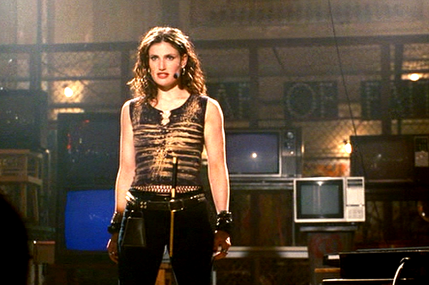 Idina As Maureen Singing Over The Moon In Rent The Movie So Funny And Quirky Rent Musical Theatre Nerds Rent Musical Costumes