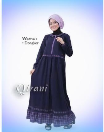 Beli Baju Dress Wanita Gamis Qirani Melati Qd 205 Dongker Dari