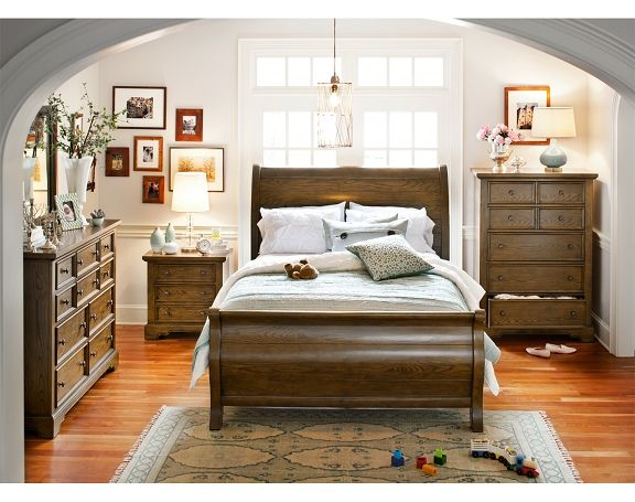 American Signature Furniture Carlyle Rustic Bedroom Collection Queen Bed 599 99