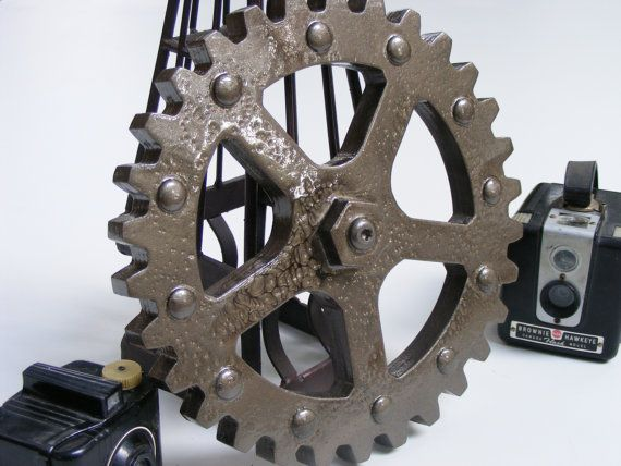 industrial gear 10 inches large wooden gears steampunk gears industrial wall decor steampunk decoration gear wall