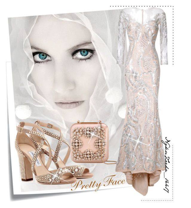 """Pretty Faces"" by pretty-zyha on Polyvore featuring Post-It, Manolo Blahnik, Mikael D and Jimmy Choo"