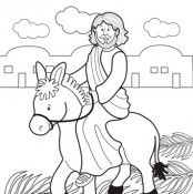 Easter Lapbook Part 1 Easter Coloring Pages Easter Colouring Palm Sunday Crafts