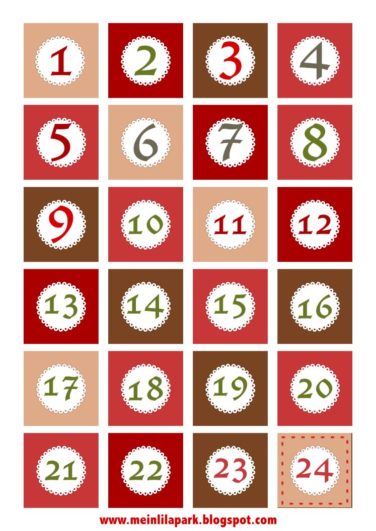 Worksheet Numbers Printable muffin tin printable numbers for advent have to subscribe but free christmas calendar and borders ausdruckbare adventszahlen freebie meinlilapark