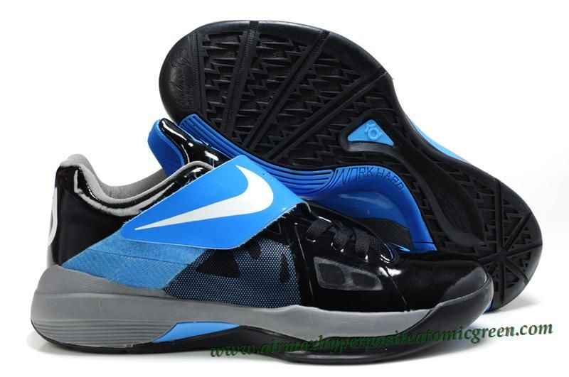 b1ca309e724a New Nike Zoom KD 4(IV) Kevin Durant Shoes Black Blue