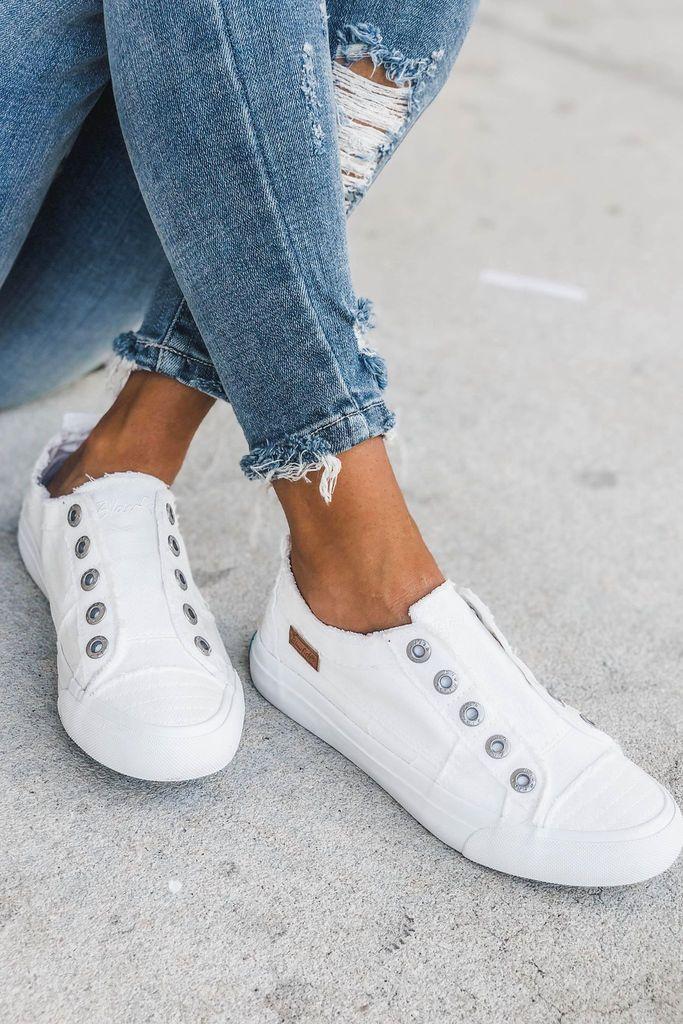 Sneakers white, Slip on sneaker