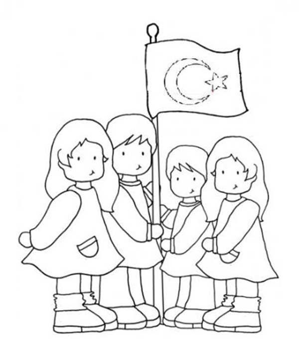 29 Ekim Cumhuriyet Bayramı çocuk Kalıbı Boyama Pinterest Paper