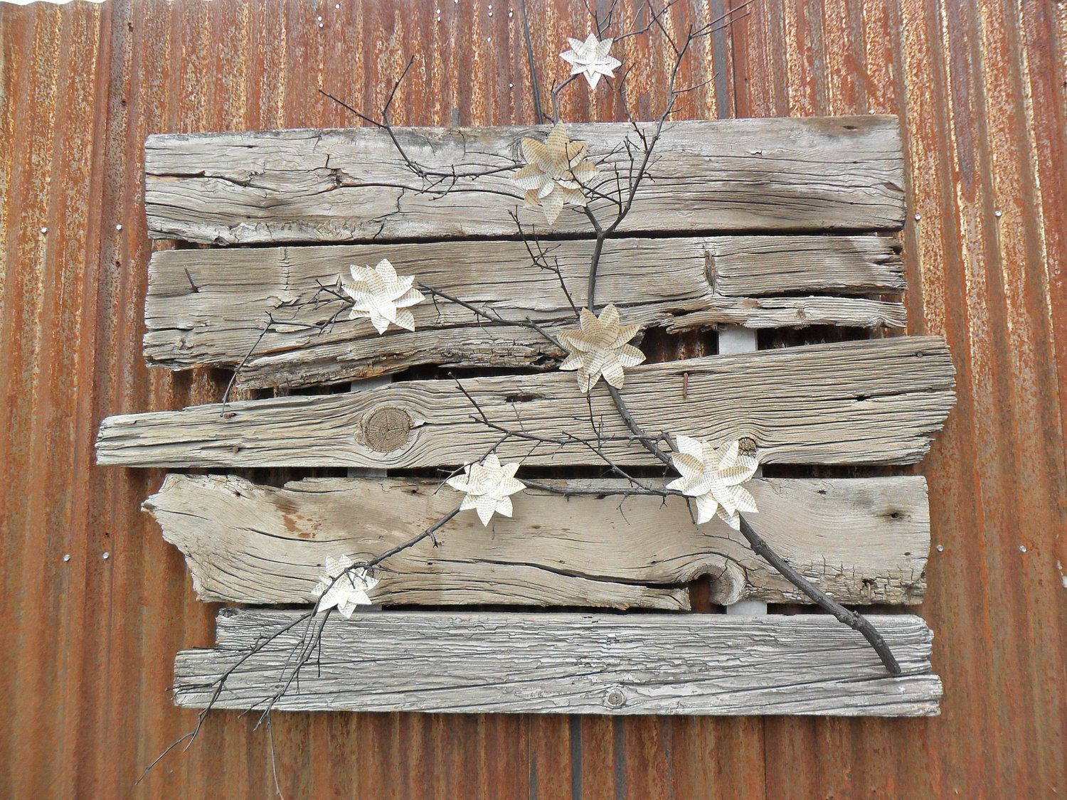 Distressed Rustic Local Barnwood Wall Hanging Inspiration Lovely In A Rustic Style Room Consider Outdoors As Wel Barn Wood Decor Barn Wood Barn Wood Crafts