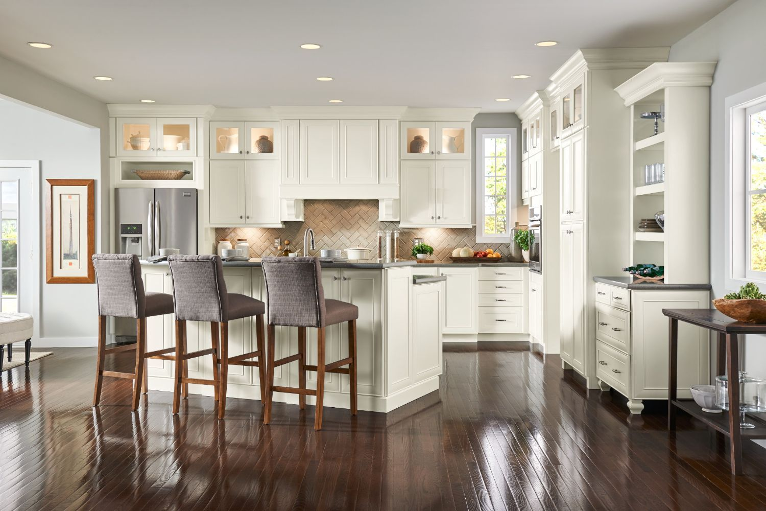 Atherton Collection American Woodmark Kitchen Remodel White Modern Kitchen Kitchen Remodel Small