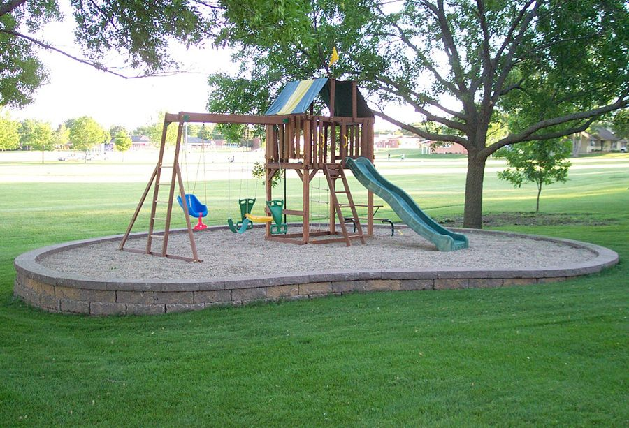 backyard playground ideas | Service Details MLS Landscaping - Walls,  Concrete, Drives, Lakefronts