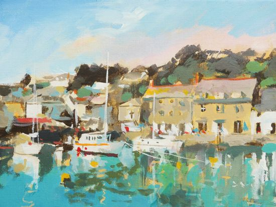 How To Paint A Cornish Harbour In Acrylics Video