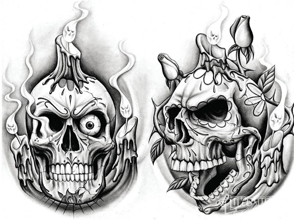Lowrider Skull Art Skull Tattoo Design Sugar Skull Tattoos