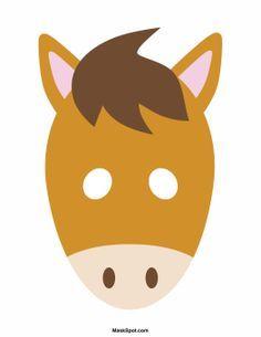 Horse Mask Templates Including A Coloring Page Version Of The Mask Free Printable Pdf At Http Maskspot Com Download Ho Horse Mask Mask For Kids Animal Masks