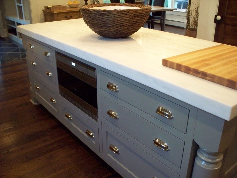 designing kitchen islands with microwave drawers - Google Search