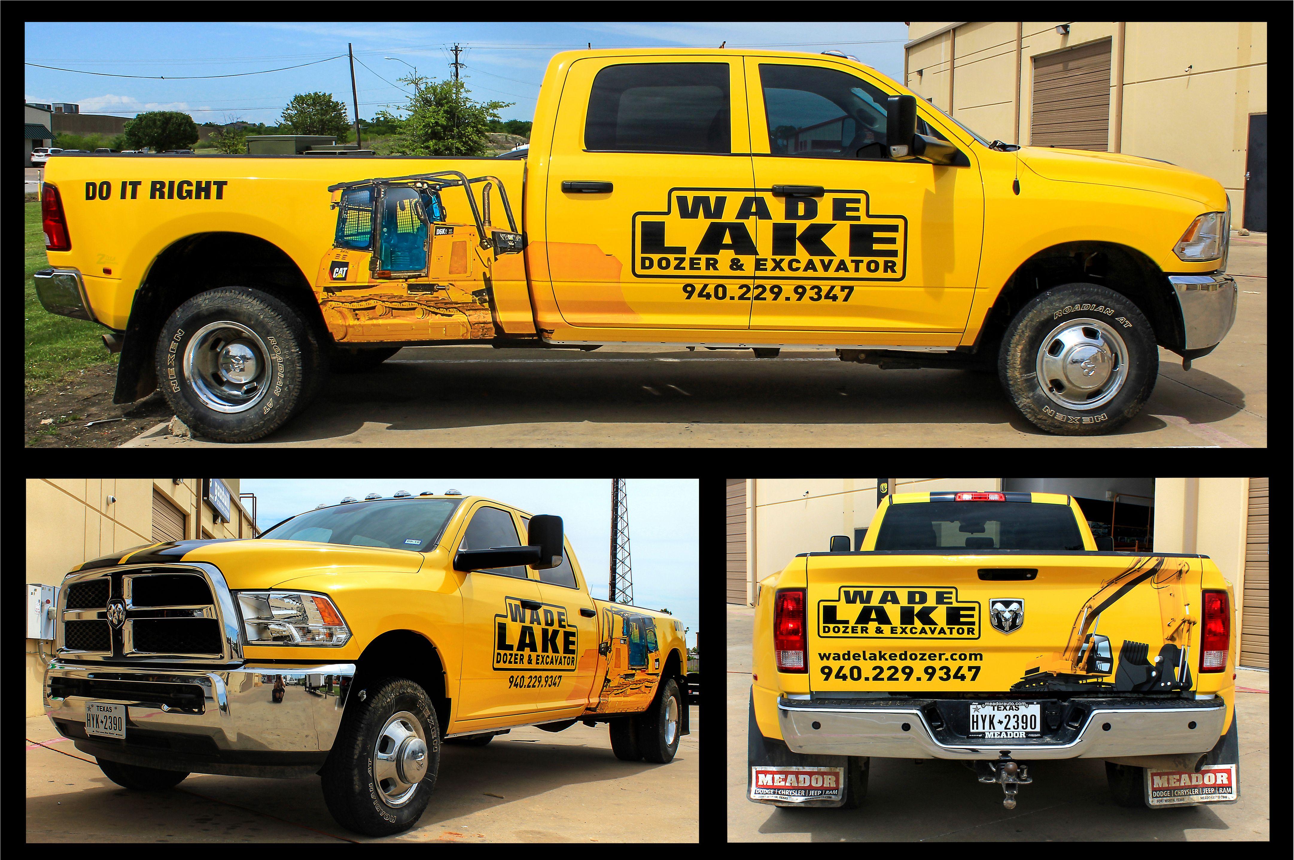 Wade lake big yellow truck black stripes