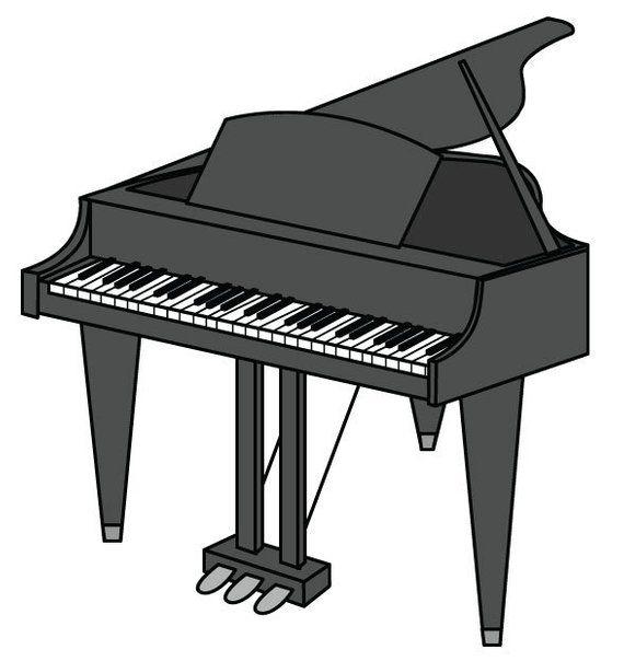 Piano Clip Art/ Piano Vector Graphic Digital Download ...