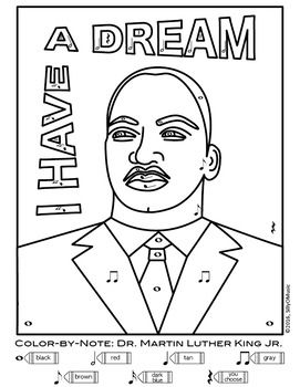 Dr  Martin Luther King Jr  Day Music Coloring, Games, & MLK