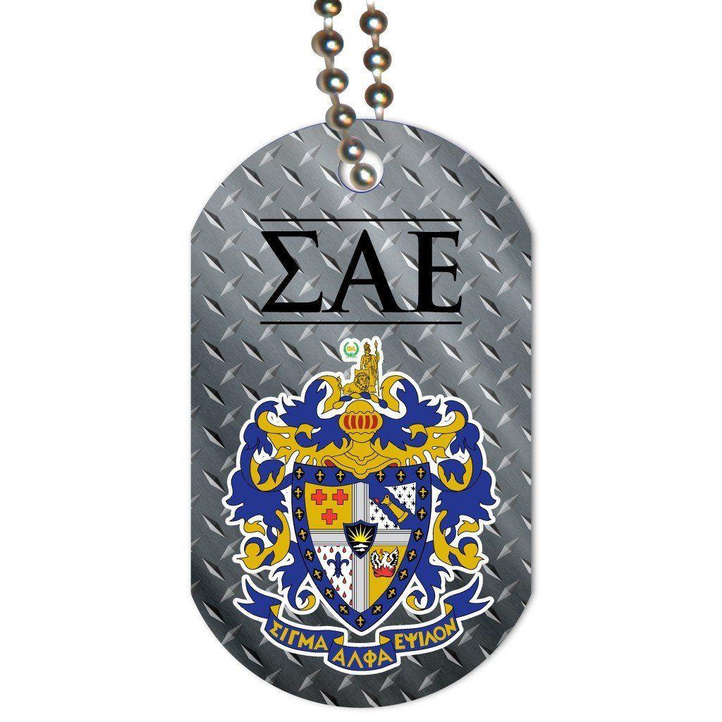 Sigma alpha epsilon dog tag set of 3 coat of arms w diamond plate sigma alpha epsilon dog tag set of 3 coat of arms w diamond plate buycottarizona Images