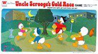 Vintage Walt Disneys Uncle Scrooges Gold Race Game Extremely Rare