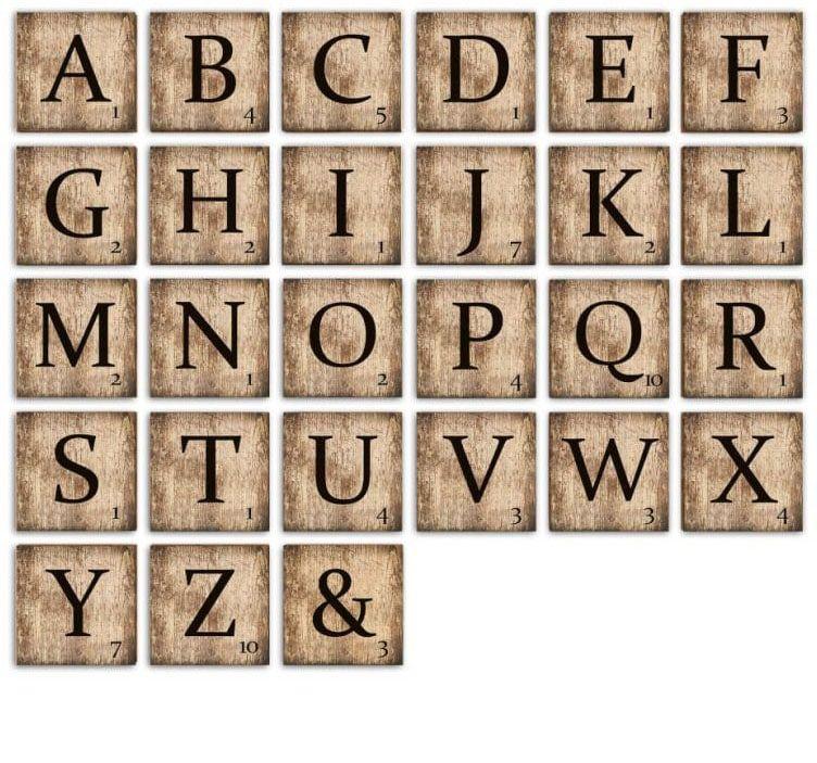 Wall-Art Deko-Buchstaben Scrabble Deko Buchstaben 15cm