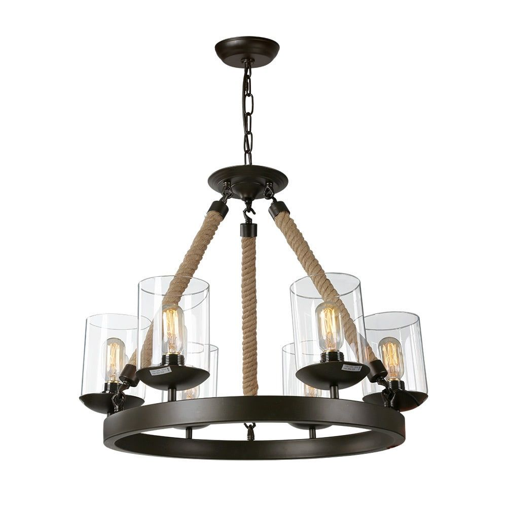 Lnc vintage chandelier lighting light chandeliers rustic pendant