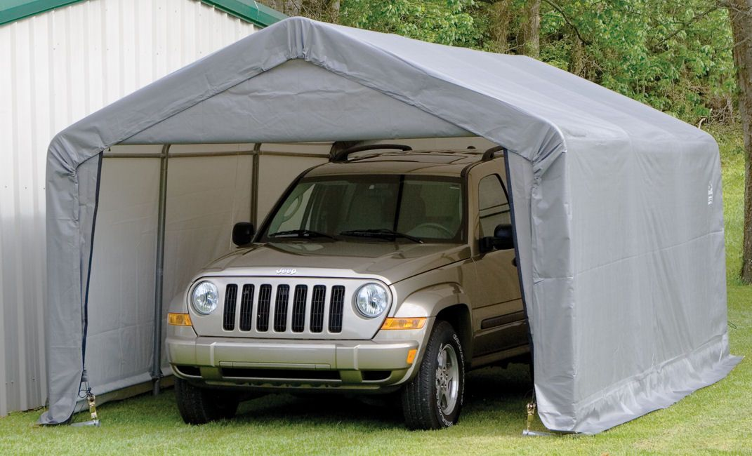 Shelter Logic Portable Garage The Workshop Garage You Ve Always Wanted Fitted Triple Layer Stoprip Fabric Uv Treated Suv Storage Portable Garage Carport