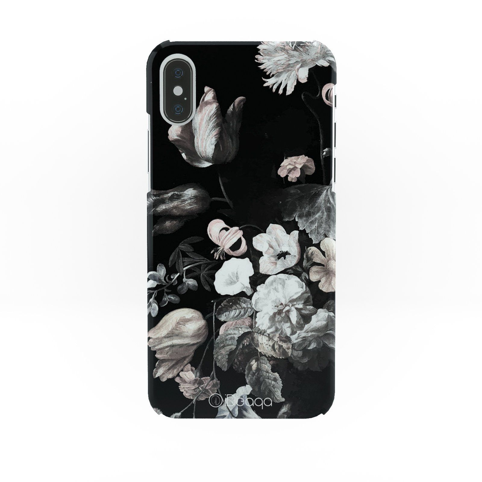 online store 91b1f f1e08 iDeaqa Black Flowers And White Floral Protective Hard Case Cover For ...