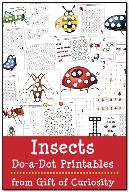 Insects do-a-dot printables | Epic Preschool Ideas | Pinterest ...