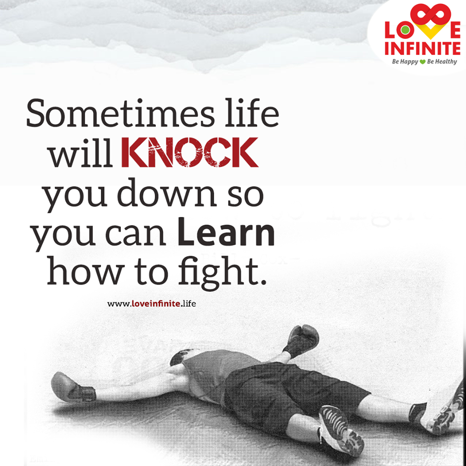 Sometimes Life Will Knock You Down So You Can Learn How To Fight Down Quotes Life Quotes Karate Kid Quotes